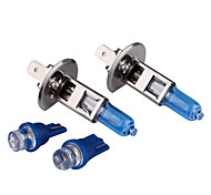 H1 100W Super White Car Bulbs DC 12V 1 Pair (Get Two Sugnal Blubs Free)