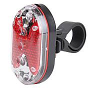 9-LED bicicleta roja luz de advertencia con soporte de montaje