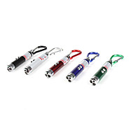 Red Laser with 3-LED Flashlight (White Light, Assorted Colors)