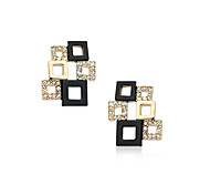 Korean Fashion   Drill Square Hollow Out Earrings
