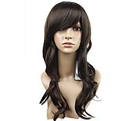 sin tapa de la moda linda naturaleza rizada peluca marrón encanto sintética 2 colores a elegir