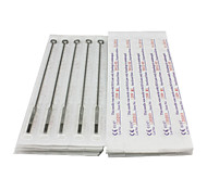50PCS Sterile Stainless Steel Tattoo Needles 25 7M1 25 9M1