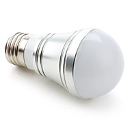 E26/E27 3 W 3 High Power LED 270 LM Natural White A Globe Bulbs DC 12 V