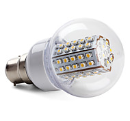 B22 W 66 SMD 3528 430 LM Warm White Globe Bulbs AC 220-240 V