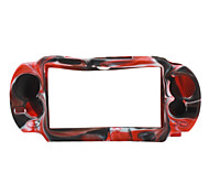 Camouflage Style Silicone Case for PS Vita (Black and Red)