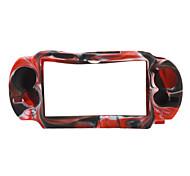 camuflar el caso de silicona para el estilo ps vita (negro y rojo)