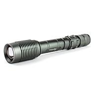 Linternas LED / Linternas de Mano LED 5 Modo 1600 Lumens Cree XM-L T6 18650.0 Uniquefire , Gris Aleación de Aluminio