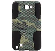 camouflage silicone stile e custodia in policarbonato per Samsung i9220