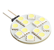 G4 1W 12x5050SMD White Light LED Bulb for Car Reading Lamp (DC 12V)