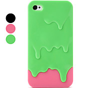Melting Ice Cream Pattern Case for iPhone 4 and 4S (Assorted Colors)