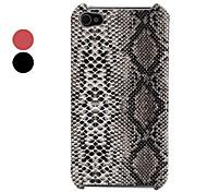 PU Leder Hülle für iPhone 4 und 4S mit Schlangenhaut Motiv (verschiedene Farben)