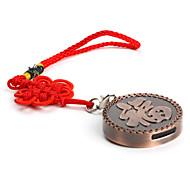 8GB Glück Bronze Stil USB-Flash-Laufwerk Schlüsselbund (braun)