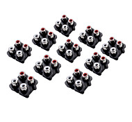AV4-7 RCA Jack Socket for Electronics DIY Use (10 Pieces a Pack)