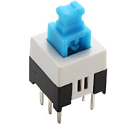 PA66 6-pin Tact Switch (Lock, 20 Pieces a pack, 7x7mm)