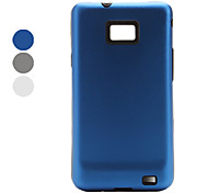 Back and Silica Frame Aluminum Case for Samsung i9100 (Assorted Colors)