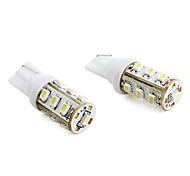 t10 13-LED 1206 SMD a mené la lampe blanche éclairage de la voiture (2-pack, 12V DC)