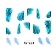Feather YS Series Flat Nails Stickers