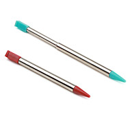 Pair of Retractable Stylus Touch Pens for 3DS (Red and Blue)