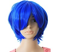 Capless Top Grade Quality Synthetic Blue Color Short Hair wig