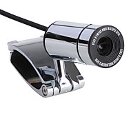 8 megapixel mini-clip-on USB 2.0 webcam (prata)