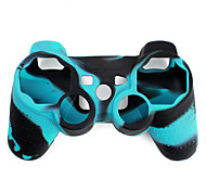 Funda Protectora de Silicona de Dos Colores para Mando PS3 (Azul y Negro)