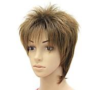 capless qualité brun syntheitc courte perruque droite