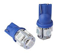 T10 0.18Wx5 5-SMD 5050 LED Car Reading Light,DC 12V/Pair(Blue)