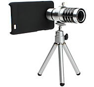 12x Telephoto Thread Lens with Back Case and Tripod for Samsung i9100