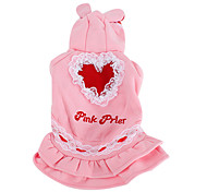 Rabbit Style Hoodie Coat for Dogs (XS-XL, Pink)