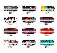 Flowers 20 Tips Nail Art Stickers