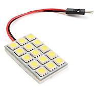 T10/31-41mm 15*5050 SMD White LED Car Signal Lights (DC 12V)