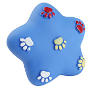 Pentastar impronta pet toy in gomma per i cani cigolii (9 x 9cm)