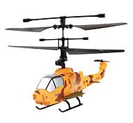 4-kanaals 2.4G militaire stijl mini-afstandsbediening helikopter met gyro (geel)