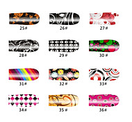 Rainbow Color Loom 20 Tips Nail Art Stickers