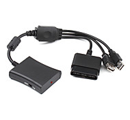 3-In-1 PS2 to Xbox 360 Slim, PS2 to PS3 and Xbox 360 to PS3 Converter Cable (Black)