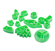DIY Flowers and Plants Pattern Cake and Cookie Cutter Mold Set (32 Pieces)