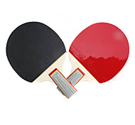 BOLI Table Tennis Penhold Racket with Ping Pong Balls (2-Pack, 3 Balls Included)