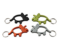 Rhinoceros Shaped Bottle Opener Keychain
