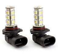 9005 18 * 5050 SMD LED blanco las luces del coche de la señal (2-Pack, DC 12V)