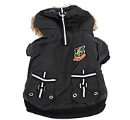 pethingtm impermeabile cappotto hoodie caldo trapuntato per i cani (xs-xl, nero)