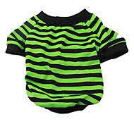 Green Striped T-Shirt for Dogs (XS-XL)