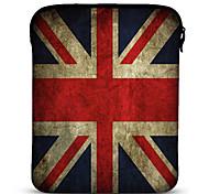 Funda Envejecida de La Bandera Británica con Neopreno de 25.4cm para el Samsung Galaxy, Tab2, iPad y Motorola Xoom