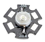 Epistar 460-470nm 3w 20-30lm 700mah led bleu ampoule avec une plaque d'aluminium (3,4-3.8V)
