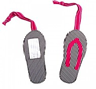 disegno cotone pantofole viaggio etichetta bagagli