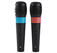 5-in-1 Universal USB Karaoke Microphone Set for Wii PS3 PS2 Xbox 360 PC (2-Pack)