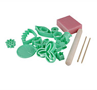 Fondant Cake DIY Decorating Flowers Style Sugarcraft Cookie Biscuit Cutters Set (28-Pack)