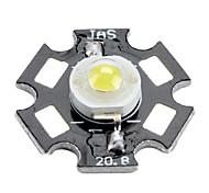 Bridgelux 3200-3500k 3W 170-190LM 700mAh Warm White LED Light Bulb with Aluminum Plate (3.4-3.8V)