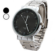 Men's Simple Dial Silver Alloy Quartz Wrist Watch (Assorted Colors)