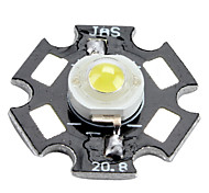 Bridgelux 6000-6500k 1W 100-110lm 350mAh bombilla LED de luz blanca con placa de aluminio (3.0-3.4v)