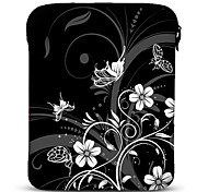 "Black and White Butterfly Neoprene Tablet Sleeve Case for 10"" Samsung Galaxy Tab2, iPad, Motorola Xoom"